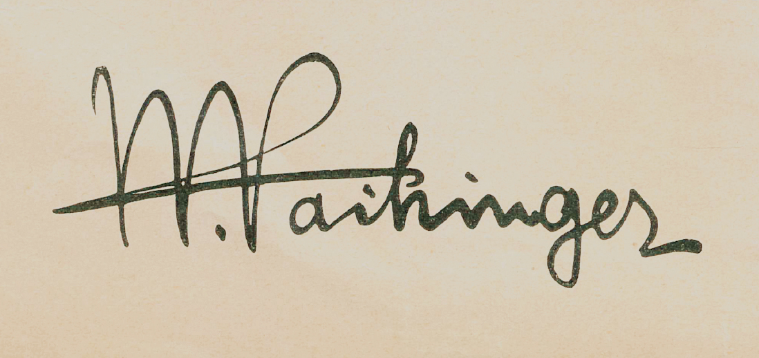 signature from vaihinger