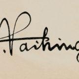 Hans Vaihinger's signature