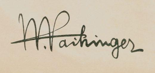 vaihinger's signature